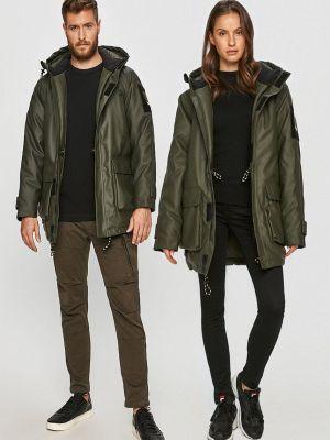 Нейлоновая прямая куртка с капюшоном Rains