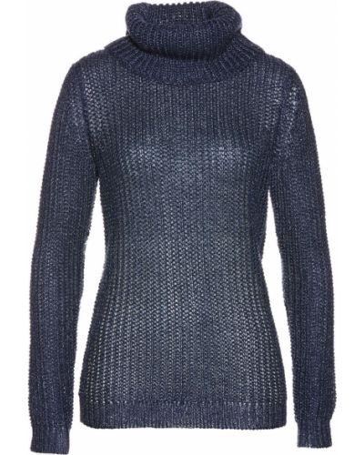 Темно-синий свитер с люрексом Bonprix