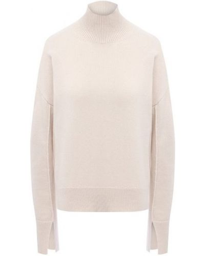 Мягкий бежевый шерстяной свитер Mrz