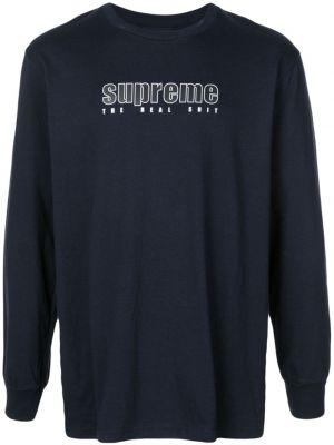 Czarny t-shirt bawełniany z długimi rękawami Supreme