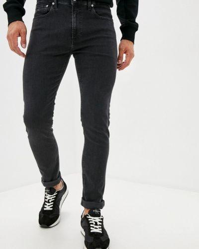 Зауженные серые джинсы-скинни Calvin Klein Jeans
