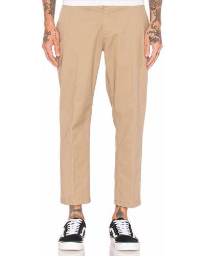 Прямые повседневные брюки хаки Obey