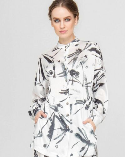 Белая зимняя блузка Lo