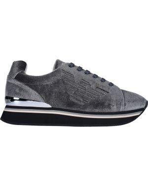 Кроссовки серые повседневные Armani Jeans
