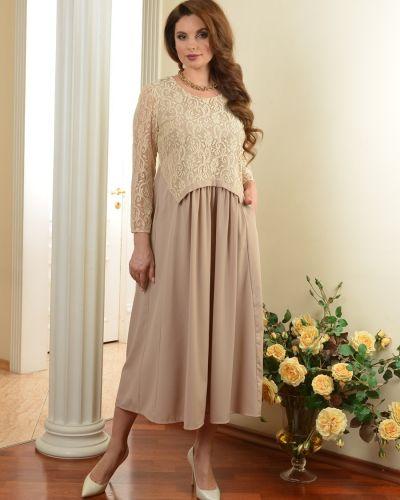 Платье бохо с вырезом со складками Salvi-s