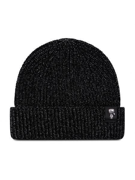 Czapka - czarna Karl Lagerfeld