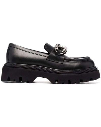 Черные кожаные туфли Casadei