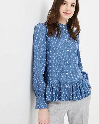 Блузка осенняя синяя Solou
