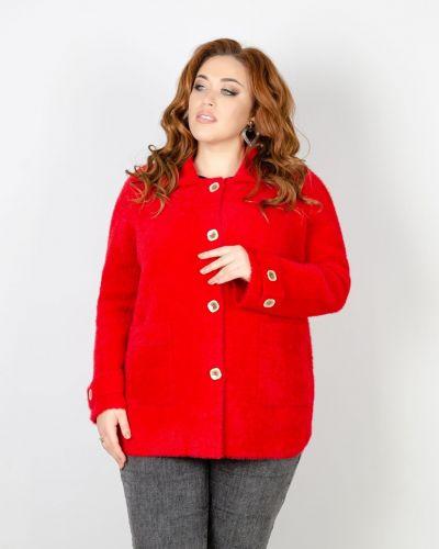 Шерстяной пиджак - красный Rozetka