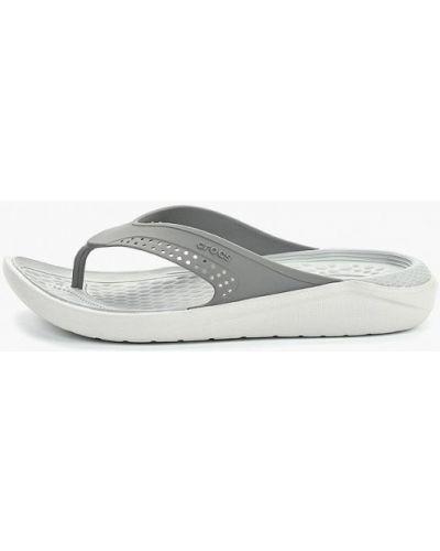 Пляжные шлепанцы серые Crocs