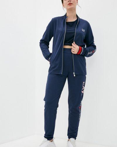 Костюмный синий спортивный костюм Ea7