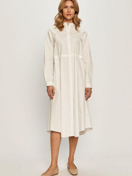 С рукавами белое платье на пуговицах Max&co