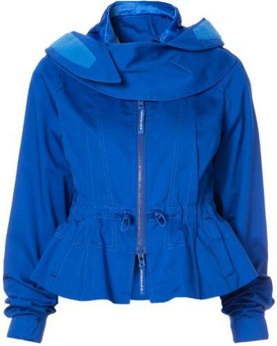 Куртка с капюшоном длинная с баской Givenchy
