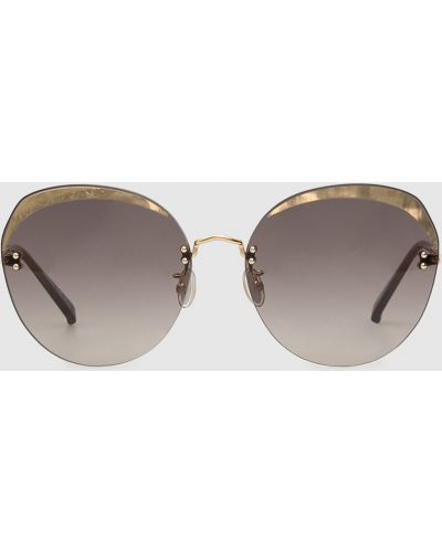 Солнцезащитные очки - золотые Max Mara