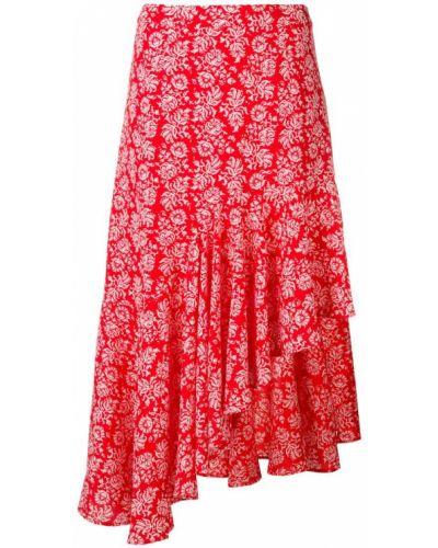 Асимметричная юбка - красная Jovonna