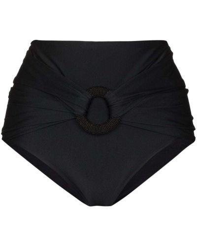 Czarny strój kąpielowy z wysokim stanem Johanna Ortiz