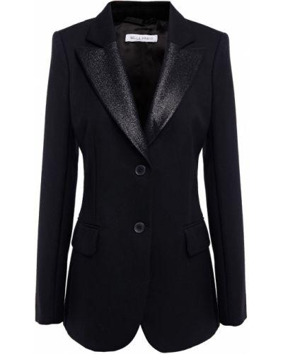 Шерстяной черный пиджак с подкладкой Bella Freud