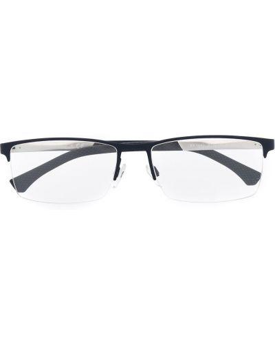 Черные очки для зрения квадратные металлические Emporio Armani