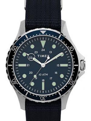 Синие текстильные часы Timex