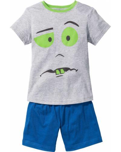 Пижама трикотажная серая Bonprix