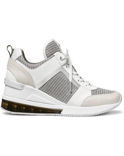 Кожаные кроссовки на платформе на каблуке Michael Michael Kors