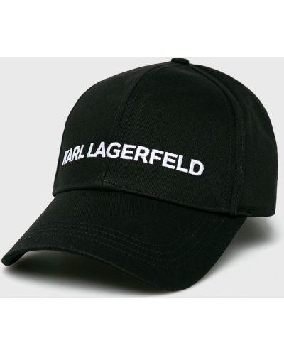 Шапка с козырьком хлопковая Karl Lagerfeld