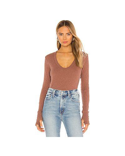 Кашемировый коричневый свитер крупной вязки Enza Costa