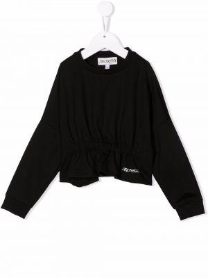 Czarna bluzka z wiskozy Simonetta