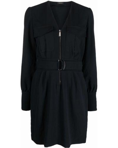 Черное платье с карманами Pinko