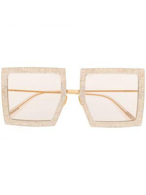 Beżowy prosto oprawka do okularów metal plac Jacquemus