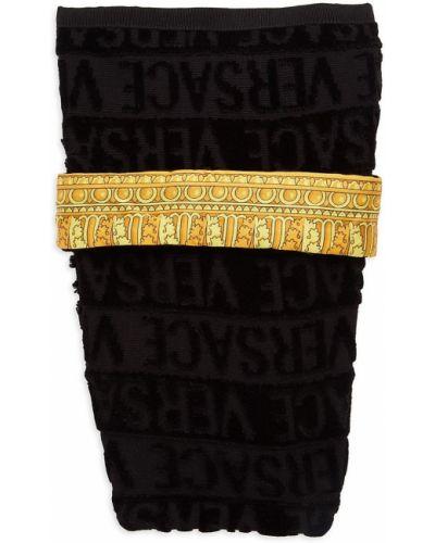 Czarny szlafrok bawełniany Versace