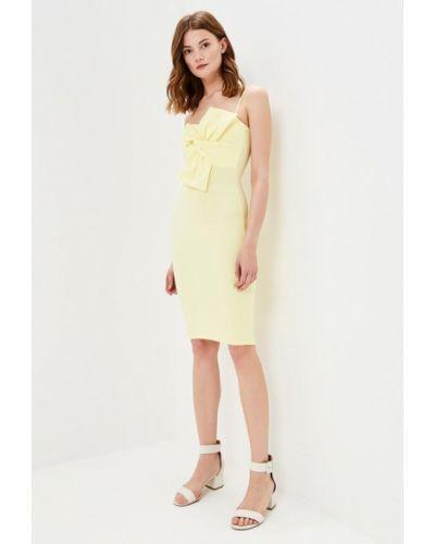 Платье с открытыми плечами желтый Edge Street