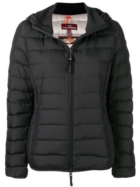 Приталенная черная стеганая куртка с карманами с перьями Parajumpers