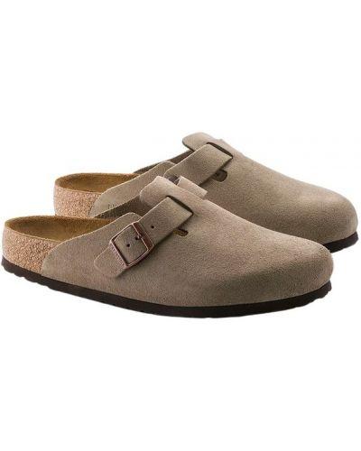 Sandały skórzane - beżowe Birkenstock