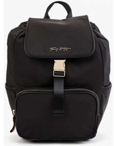 Черный текстильный рюкзак Tommy Hilfiger