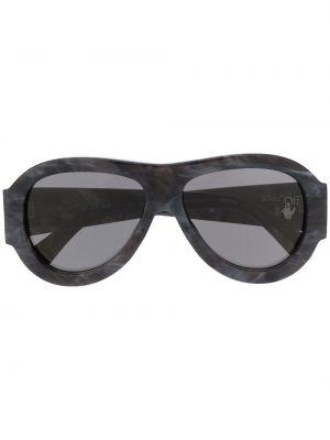 Czarne okulary oversize Off-white