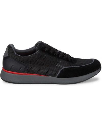 Замшевые кроссовки - черные Swims
