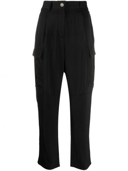 Черные брюки с карманами на пуговицах с высокой посадкой Calvin Klein