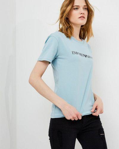 Голубая футболка Emporio Armani
