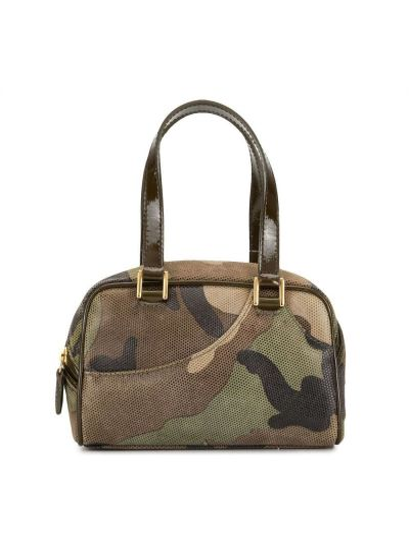 Brązowy skórzany mini torebka Christian Dior