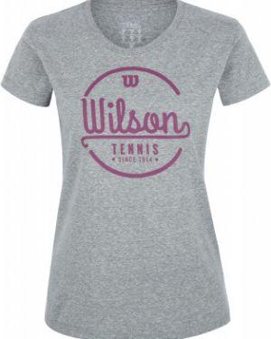 Спортивная футболка серая в полоску Wilson