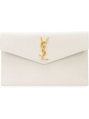 Złota kopertówka - biała Saint Laurent