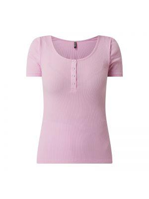 Fioletowy t-shirt bawełniany Pieces