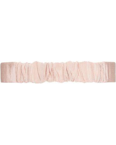 Розовый ремень с пряжкой из вискозы No.21