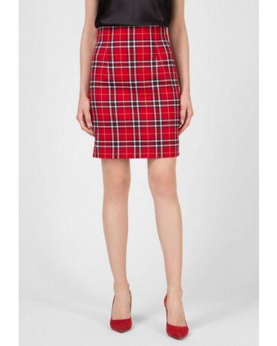 Красная прямая юбка карандаш Kano