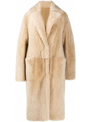 Однобортное кожаное длинное пальто двустороннее Manzoni 24