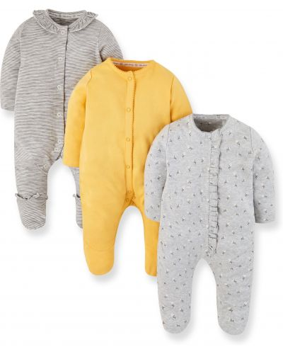 Ползунки серые желтый Mothercare