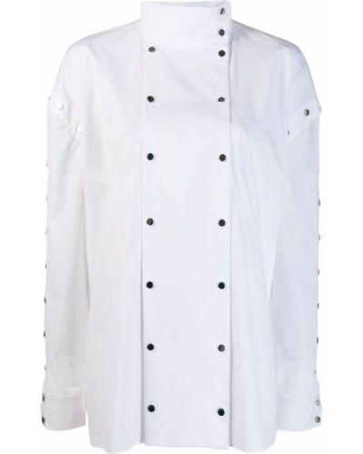 Рубашка с длинным рукавом белая на кнопках Christopher Kane