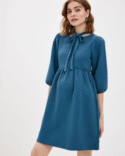 Прямое синее платье Mama.licious