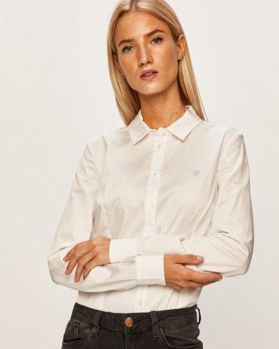 Блузка с длинным рукавом однотонная белая Guess Jeans